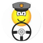 Driving chauffeur emoticon   sticker_sheets