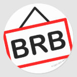 BRB smile  Be right back sticker_sheets
