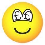 Pound eyed emoticon   sticker_sheets