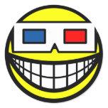 3D glasses smile   sticker_sheets