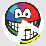 Pie chart smile Highlighted  sticker_sheets