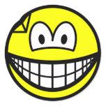 Dented smile   sticker_sheets