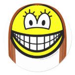 Brunette smile   sticker_sheets