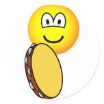 Tambourine playing emoticon   sticker_sheets