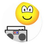 Boom box radio emoticon   sticker_sheets