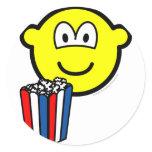 Popcorn eating buddy icon   sticker_sheets