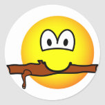 Fetching stick emoticon Dog  sticker_sheets