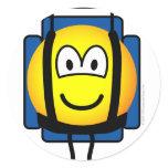 Backpacker emoticon   sticker_sheets