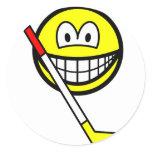 Ice hockey smile   sticker_sheets