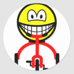 Tricycle smile Riding  sticker_sheets