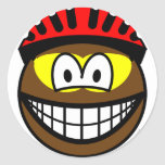 Biker smile muddy  sticker_sheets