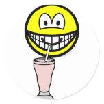 Milkshake smile   sticker_sheets
