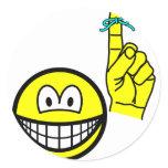 Reminder smile string around finger  sticker_sheets