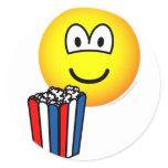 Popcorn eating emoticon   sticker_sheets