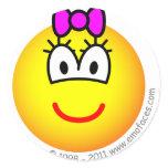 Baby girl emoticon   sticker_sheets