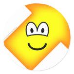 Up right emoticon arrow  sticker_sheets