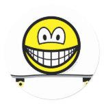 Skateboarding smile   sticker_sheets