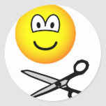 Cutting emoticon scissors  sticker_sheets