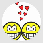 Two Smilies in love   sticker_sheets