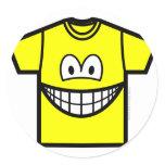 T-shirt smile   sticker_sheets