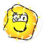 Xmas lights emoticon   sticker_sheets