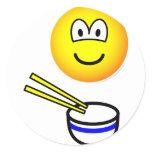 Chop sticks emoticon Rice bowl  sticker_sheets