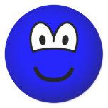 Colored emoticon blue  sticker_sheets