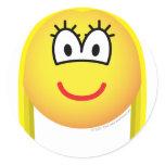 Blonde emoticon   sticker_sheets