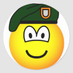 Green beret emoticon   sticker_sheets