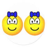 Identical twin emoticon Boys  sticker_sheets