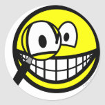 Magnifying glass smile Looking through  sticker_sheets