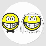 Married smile bride and groom  sticker_sheets