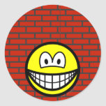 Against the wall smile   sticker_sheets