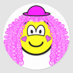 Curly pink hair clown buddy icon   sticker_sheets