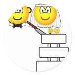 Wedding cake emoticon Cutting  sticker_sheets