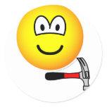Hammer and nail emoticon   sticker_sheets
