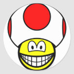 Toad smile video game  sticker_sheets
