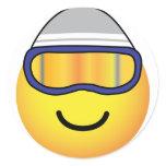 Skier emoticon   sticker_sheets