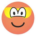 Sunburned emoticon   sticker_sheets