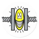 Stressed smile Under pressure  sticker_sheets