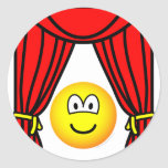 Theater emoticon stage curtains open  sticker_sheets