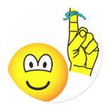 Reminder emoticon string around finger  sticker_sheets
