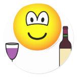 Wine drinking emoticon   sticker_sheets