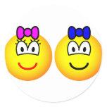 Twins emoticon   sticker_sheets
