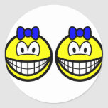Identical twin smile Boys  sticker_sheets