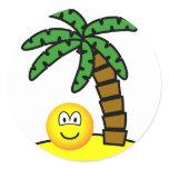 Desert island emoticon   sticker_sheets