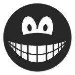 Black smile   sticker_sheets