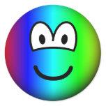 Rainbow emoticon Colours  sticker_sheets