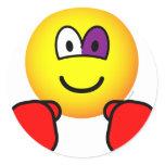 Boxing emoticon Black eye  sticker_sheets