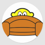 Bange buddy icon Achter de bank  sticker_sheets